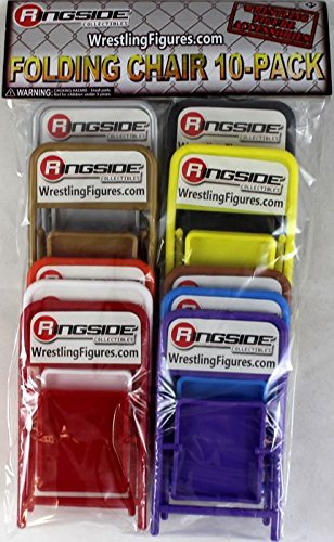 FOLDING CHAIR 10-PACK - RINGSIDE COLLECTIBLES EXCLUSIVE WWE TOY WRESTLING ACTION FIGURE ACCESSORIES by Wrestling