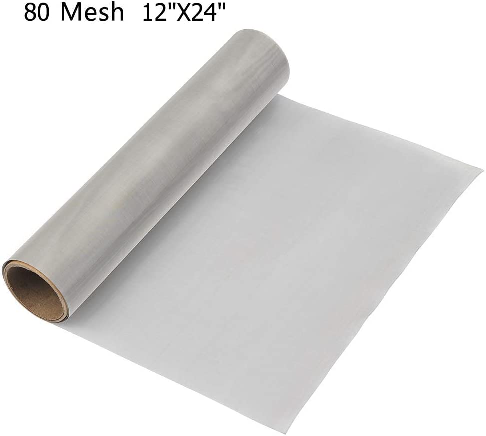 44/% Open Area 12 Width 24 Length Small Parts 180 microns Mesh Size 12 Width Opaque White Nylon 6 Woven Mesh Sheet 24 Length