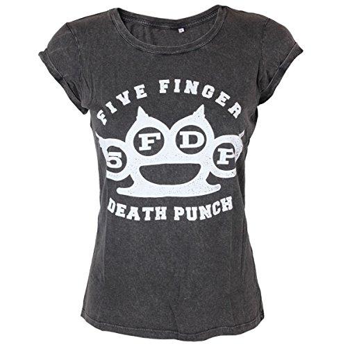 Damen T-Shirt Five Finger Death Punch - Knuckleduster - ROCK OFF - FFDPTS16LAW XS