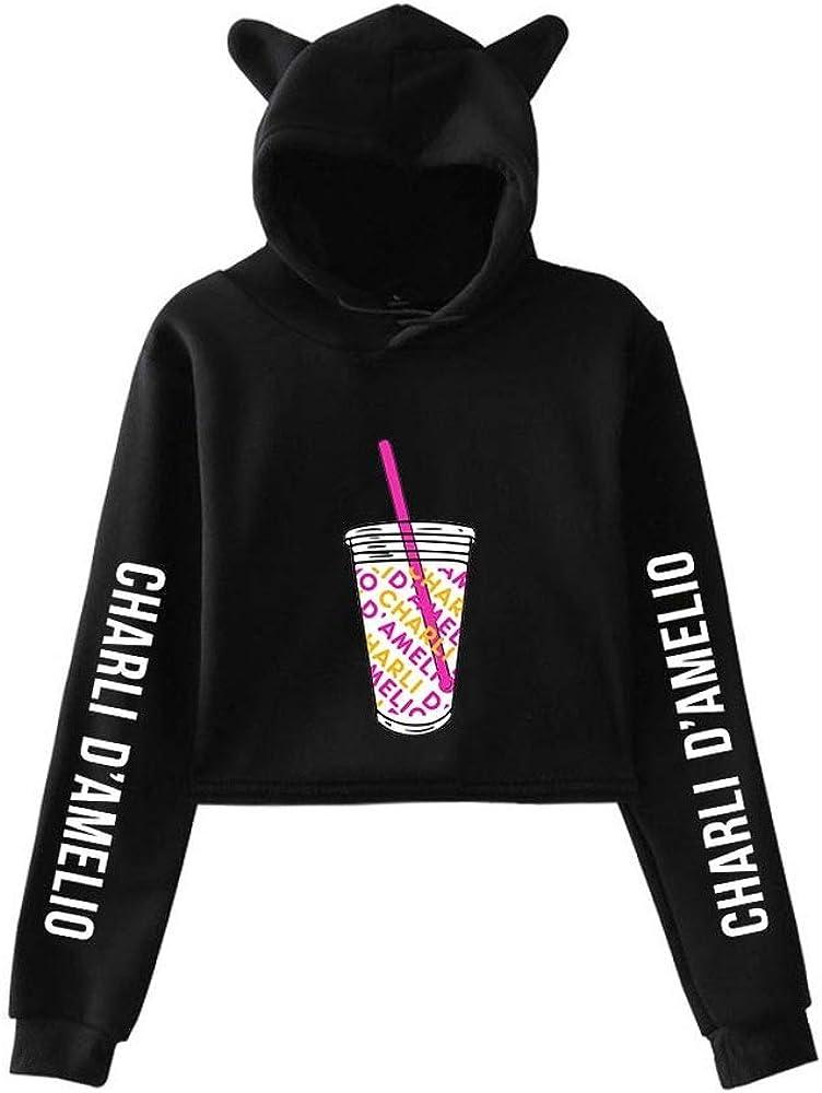 WAWNI 2020 Ice Coffee Splatter Hoodies Sweatshirts Men and Women Hoodie Charli DAmelio Pullover Unisex Costume Tracksuit White,S