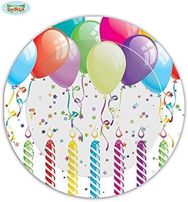 Bolsa 8 Platos cumpleaños 23 cm: Amazon.es: Juguetes y juegos