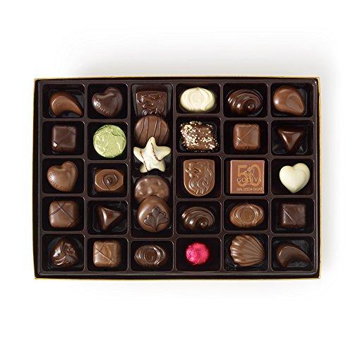 Godiva Chocolatier Assorted Chocolate Gold Gift Box, Happy Birthday Ribbon, Chocolate Birthday Gift, 36 Piece by GODIVA Chocolatier (Image #1)