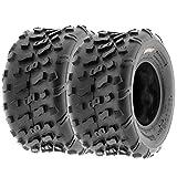 Set of 2 SunF A022 20x10-9 ATV/UTV Off-Road Tires, 6-PR |Knobby Tread