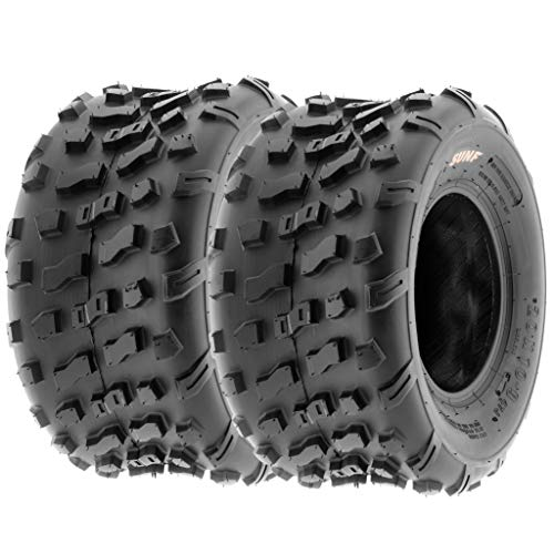 (Set of 2 SunF A022 20x10-9 ATV/UTV Off-Road Tires, 6-PR |Knobby Tread)