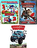 Trucks Dragons & Meatballs Boys Triple Adventure Dawn of Racers / Book Dragons / Legend Boneknapper + Cloudy with A chance of Meatballs 1 & 2 Monster Trucks 4 movie Features