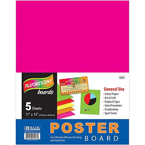 Bazic 11' x 14' Multi Color Fluorescente cartel (5/PACK) (Caja de 48)