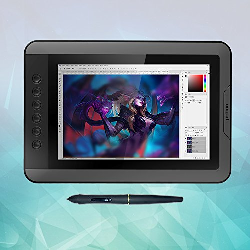 PNBOO PN10 10.1 Inch IPS Graphics Drawing Monitor with Battery-free Passive Pen(Black) by PNBOO