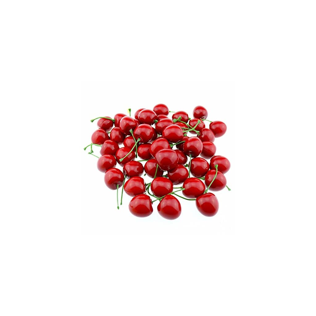 gootrades-Artificial-Lifelike-Simulation-Red-Cherries-Fake-Fruit-for-Party-Decoration-Pack-of-50