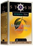 Stash Meyer Lemon Blossom Herbal Tea, Tea Bags, 20-Count Boxes (Pack of 6)