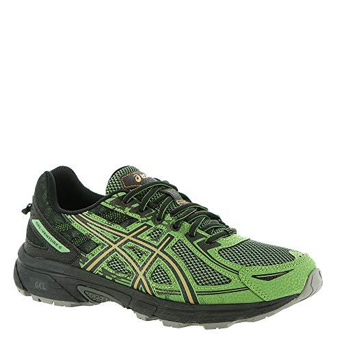 ASICS Mens Venture 6 Running Sneaker, Cedar Green/Lava Orange, Size 12.5