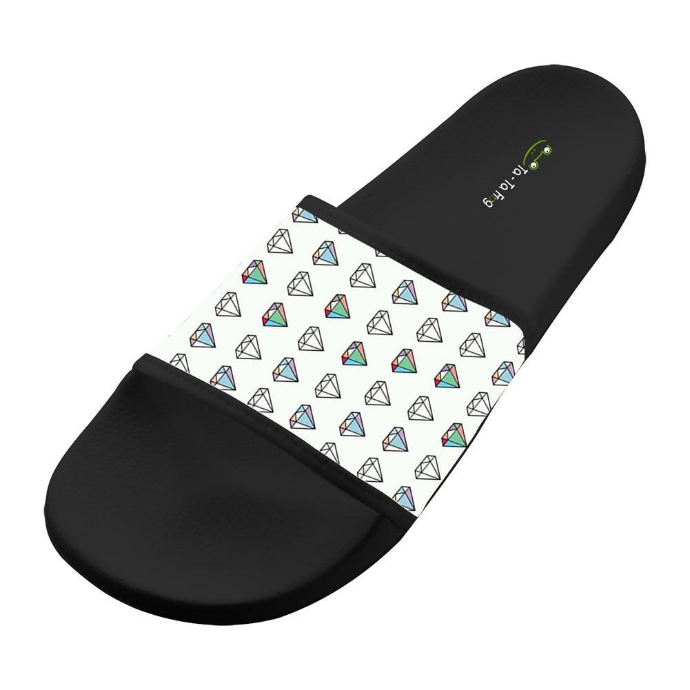 KOUY Summer Unisex Masonry Home Slippers Bath//Beach Non Slip Slide Sandals