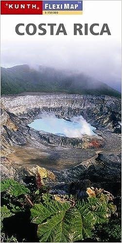 {{FB2{{ Costa Rica 1:750 000 Travel Map With San Jose Plan, Laminated, MAGNUM, 2011 Edition. stars October Version ikastaro medios Element facility