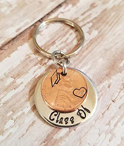 Class Of 2019 Graduate Gift for Him or Her with a Lucky Copper Penny Heart  and Graduation Cap