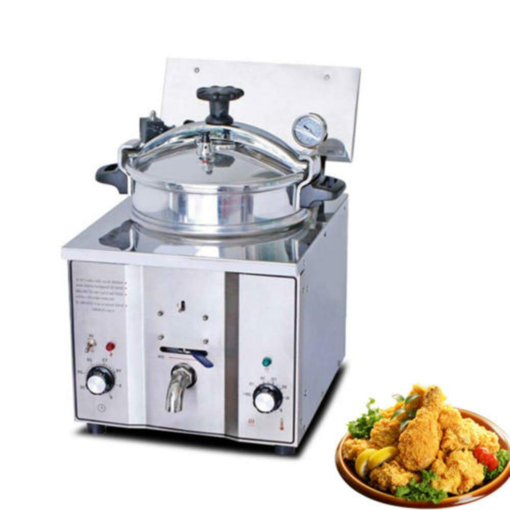 Enshey Commercial Electric Fryer Fried Oven Portable 16L Countertop Pressure Chicken Fish 2400W