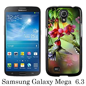 Samsung Galaxy Mega 6.3 I9200 Case ,Hot Sale And Popular Designed Samsung Galaxy Mega 6.3 I9200 Case With Hummingbird Painting Black Hight Quality Cover