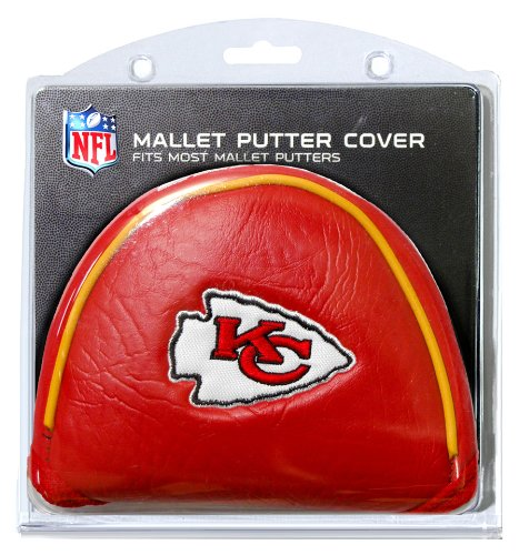 Team Golf NFL Kansas City Chiefs Golf Club Mallet Putter Headcover, Fits Most Mallet Putters, Scotty Cameron, Daddy Long Legs, Taylormade, Odyssey, Titleist, Ping, ()