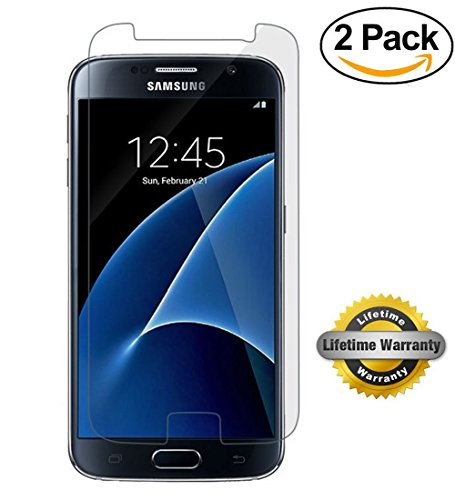 Price comparison product image SOOYO 2.5D Round Edge Tempered Glass Screen Protector for Samsung Galaxy S7 - 2 Pack