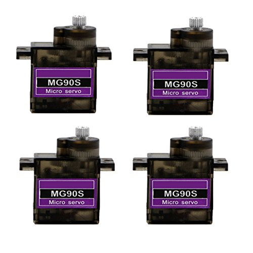 Servo Small - RioRand 4 x MG90S Metal Geared Micro Servo For Plane Helicopter Boat Car New