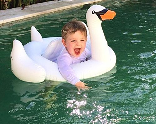 Oima Baby White Swan Inflatable Pool Float