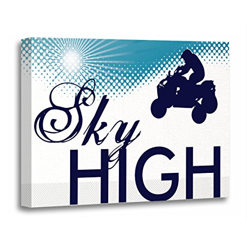 rt Print Atvs Sky High Quads Polaris Yamaha Kawasaki Dirt Artwork for Home Decor 20