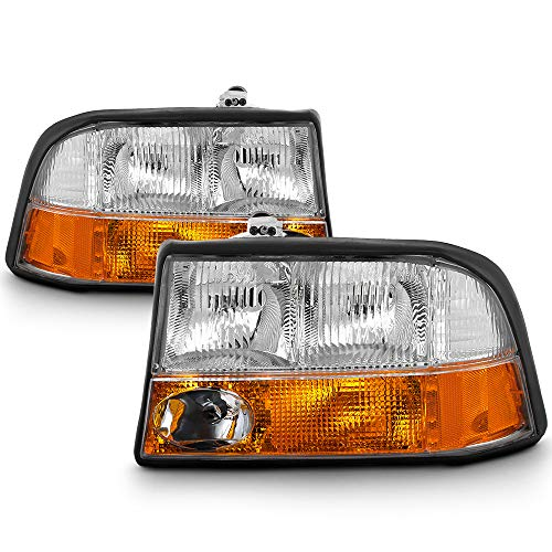 ACANII - For 1998-2004 GMC Sonoma S-15 98-01 Jimmy Bravada w/Fog Lights Headlights Headlamps Driver & Passenger Side