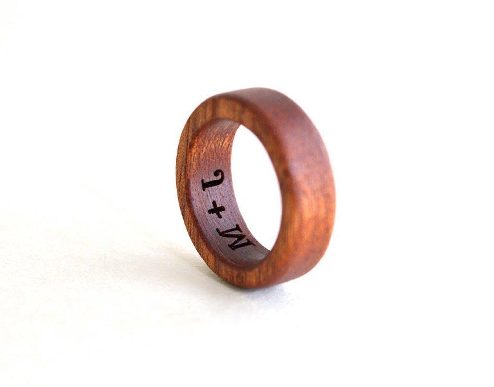 Mahogany Ring, Wood Ring, Wood Band, Mahogany wood ring, Wooden Wedding Jewelry, Mahogany Jewelry, Mahogany Wood Band, Holiday Gift, Personalized Ring