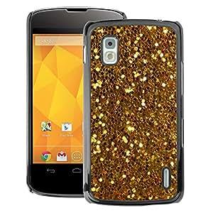 A-type Arte & diseño plástico duro Fundas Cover Cubre Hard Case Cover para LG Nexus 4 E960 (Glitter Sparkly Pattern Bling)