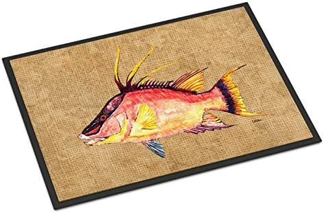 Caroline s Treasures 8803JMAT Hog Snapper Indoor or Outdoor Mat 24×36, 24H X 36W, Multicolor
