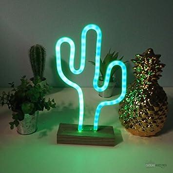 Lampe Neon Cactus Cadeau Maestro Amazon Fr Cuisine Maison