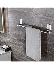 Self Adhesive Towel Holder, Ceinter 55 cm Bathroom Towel Rack Stick on Bath Towel Rail Holder No Drill, SUS 304 Stainless Steel