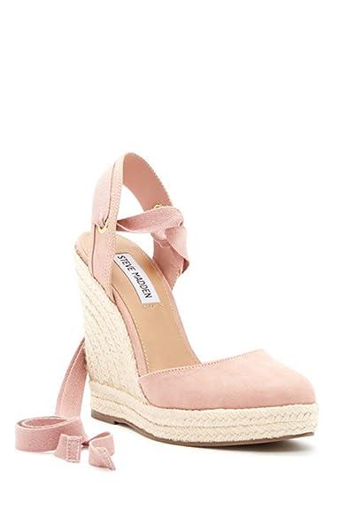 Steve Madden Women's Barre Espadrille Wedge Sandal (11, Pink)