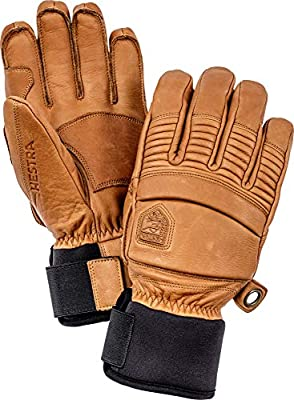 Mens and Womens Leather Box Cold Weather Mittens Hestra Winter Ski Gloves