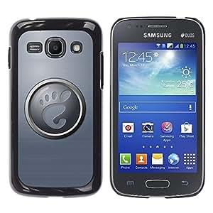 TECHCASE**Cubierta de la caja de protección la piel dura para el ** Samsung Galaxy Ace 3 GT-S7270 GT-S7275 GT-S7272 ** Foot