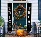 Trick Or Treat Halloween Banner for Halloween Decorations, Halloween Trick Or Treat Set, Trick Or Treat Banner, Plastic Rods and Black String