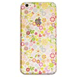 iPhone 6s Case, Cas Graphique Colorful Flower Design Case, Premium Graphic TPU with MultiLayer coating for iPhone 6s/6 (4.7 inch screen), Come with 2 screen protector