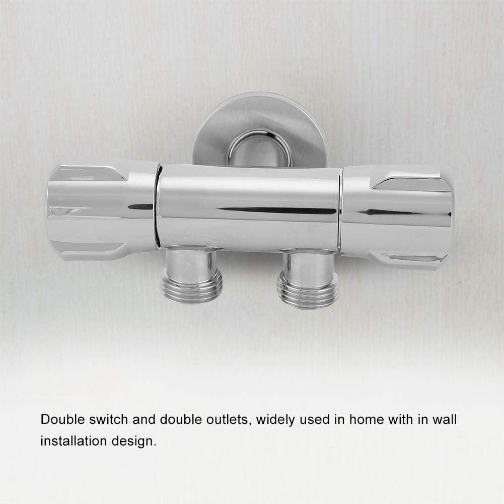 2 ViaGasaFamido Cobre Doble Interruptor V/álvula de /Ángulo de Salida Inodoro Bid/é Ducha Grifo Accesorios de Ba/ño V/álvula de /Ángulo de Salida G1