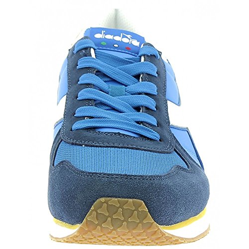 Diadora K-Run II, Sneaker a Collo Basso Uomo, Blu (Blu Micro/Giallo Met/Blu Estat), 42.5 EU