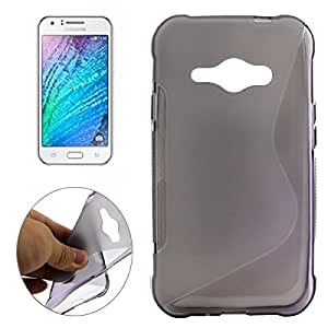 S Line Anti-slip Frosted TPU Protective Case for Samsung Galaxy J1 / J100 (Grey)