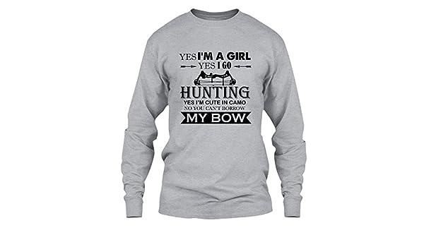 b849b31e0 Amazon.com: Elido Store Bow Hunting T Shirt - Bow Hunting Girl Cool T  Shirts Design: Clothing