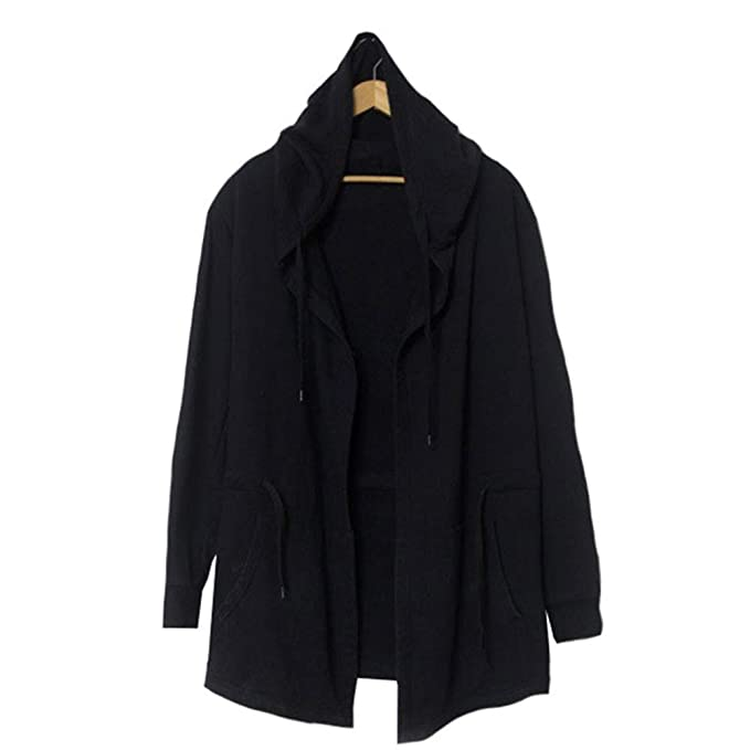 Sunny Hip Hop Sweatshirt Long Hoodies Cool Black Cloak ...