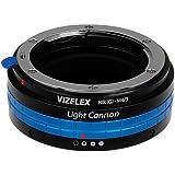 The Vizelex Light Cannon Soft Focus Adapter - Nikon G Lens to Mirco 4/3 (MFT) DSLR Camera Lens Mount Adapter, for Olympus PEN E-PL1, E-PL1s, E-PL2, E-PL3, E-P2, E-P3, E-M, OM-D, E-M5, Panasonic Lumix DMC-G1, G2, G3, G10, GX1, GH1, GH2, GF1, GF2, GF3, GF5, Panasonic AG-AF100