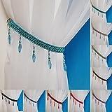 Crystal Beaded Curtain Tie Back (Teal)