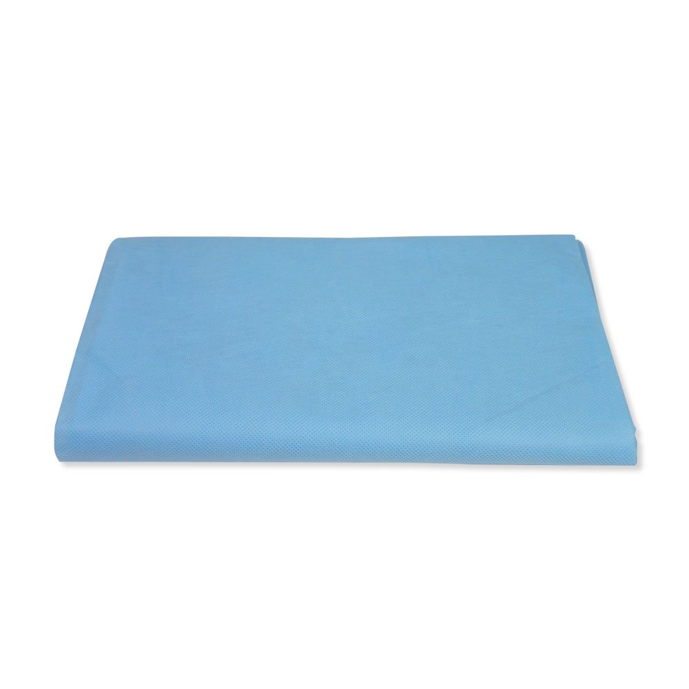 PDC Healthcare SPF380 Drape Sheet, Stretcher Fitted, Poly, Non-Woven, 25'' x 72'', Blue (Pack of 50)