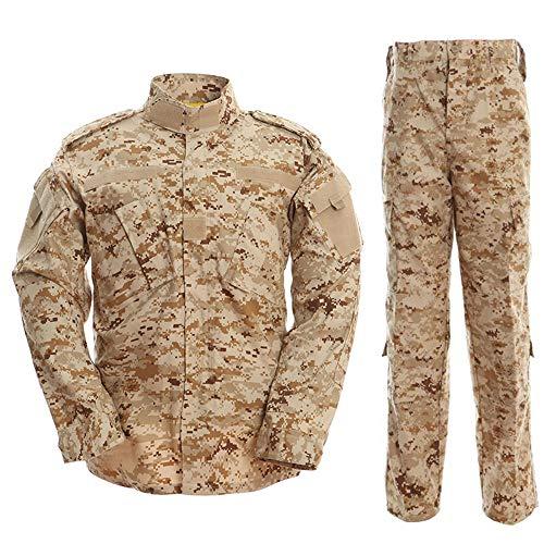 Noga Camouflage Suit Combat Bdu Uniform Military Uniform Bdu Hunting Suit Wargame Paintball Coat+pants (DESERT CAMO, M)