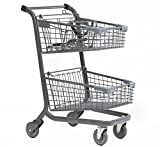 Advance Carts 110xc-Granite-3pack XPress Series Shopping Cart, 110 L with Child Seat, Granite Powder Coat (Pack of 3)