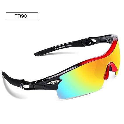 Ewin E12 Gafas de Sol de Deporte Polarizadas, 4 Lentes Intercambiables,  TR90 Marco Irrompible f94e3253f2