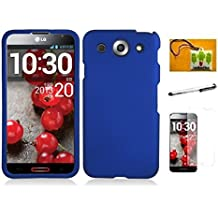LG Optimus G Pro E980, LF 4 in 1 Bundle - Hard Case Cover, Stylus Pen, Screen Protector & Wiper (AT&T) (Blue)