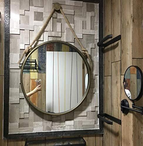 Espejos De Vanidad Metálicos De Pared Redondos Cuerda De Cáñamo ...