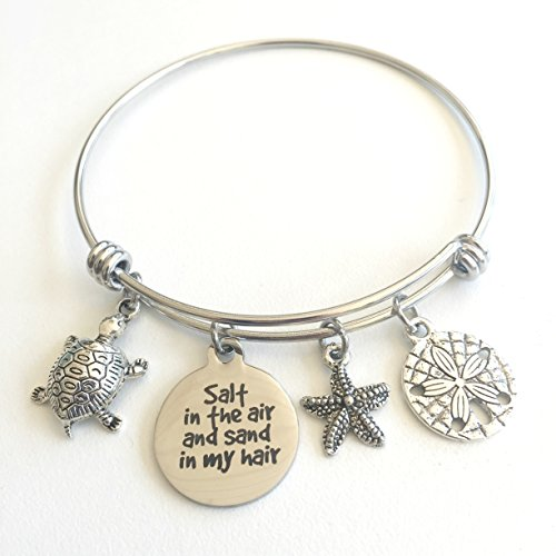 Salt in the Air and Sand in my Hair | Beach Charm Bracelet | You Choose Charms for Her