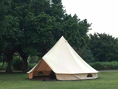 DANCHEL Stand Canvas Bell Tents 20ft 6M /teepee with Carry Bag khaki Sheet and Hole & DANCHEL Stand Canvas Bell Tents 20ft 6M /teepee with Carry Bag ...